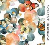 Abstract Watercolor Circles An...