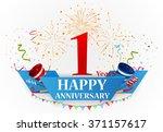 happy anniversary celebration... | Shutterstock . vector #371157617