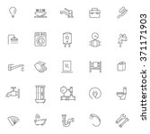 vector plumbing  outline icons... | Shutterstock .eps vector #371171903