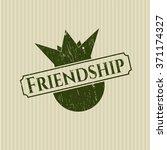 friendship grunge style stamp | Shutterstock .eps vector #371174327