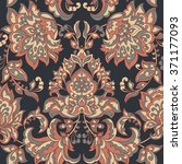 baroque style floral wallpaper. ... | Shutterstock .eps vector #371177093