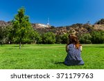 girl in the lake hollywood park ... | Shutterstock . vector #371179763
