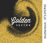 gold glitter sparkles bright... | Shutterstock .eps vector #371191943