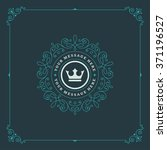 royal logo design template.... | Shutterstock .eps vector #371196527