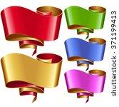 vector ribbon frames set....   Shutterstock .eps vector #371199413