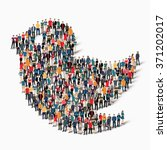 a large group of people in the...   Shutterstock .eps vector #371202017
