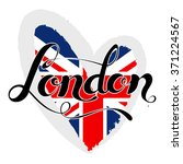 london lettering. hand written... | Shutterstock .eps vector #371224567