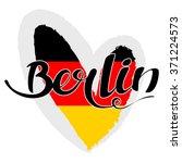 berlin lettering. hand written... | Shutterstock .eps vector #371224573