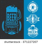 set styled label of beer. ... | Shutterstock .eps vector #371227207