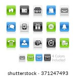 e shopping icons   the file... | Shutterstock .eps vector #371247493