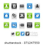 social icons   the file... | Shutterstock .eps vector #371247553