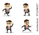 set of manager character in... | Shutterstock .eps vector #371248327
