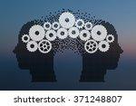concept of brain storming ... | Shutterstock .eps vector #371248807
