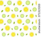 seamless texture with lemons ... | Shutterstock .eps vector #371315203