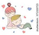romantic concept. loving boy...   Shutterstock .eps vector #371320723