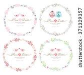 floral frame. cute retro... | Shutterstock .eps vector #371329357