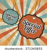 special offer design  | Shutterstock .eps vector #371343853