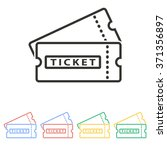 ticket  icon  on white... | Shutterstock .eps vector #371356897