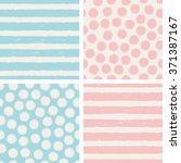 set of seamless patterns | Shutterstock .eps vector #371387167