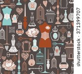 vector vintage objects seamless ... | Shutterstock .eps vector #371399707