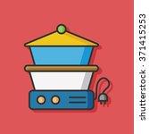 cooking pot vector icon | Shutterstock .eps vector #371415253