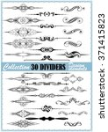 collection of dividers and... | Shutterstock .eps vector #371415823