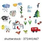 farm life icons set  ... | Shutterstock . vector #371441467