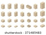 icons 3d boxes  realistic style ... | Shutterstock .eps vector #371485483