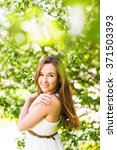 romantic young woman in the... | Shutterstock . vector #371503393