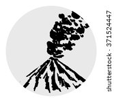 vector volcano illustration for ... | Shutterstock .eps vector #371524447