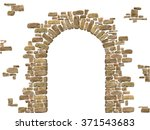 Arch Of Stones Isolated On...