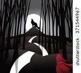 little red riding hood fairy...   Shutterstock .eps vector #371544967