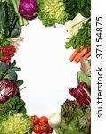 a vegetable frame on white | Shutterstock . vector #37154875