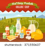 dairy products vector...