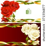 vector horizontal frame set of... | Shutterstock .eps vector #371556877