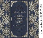wedding invitation cards ... | Shutterstock .eps vector #371561557