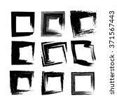 black ink square brush strokes... | Shutterstock .eps vector #371567443