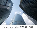 moscow. modern architecture.  | Shutterstock . vector #371571307