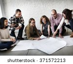 creative group working... | Shutterstock . vector #371572213