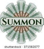summon abstract linear rosette | Shutterstock .eps vector #371582077