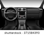 truck interior   inside view of ... | Shutterstock .eps vector #371584393