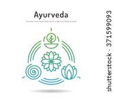 ayurveda vector illustration... | Shutterstock .eps vector #371599093