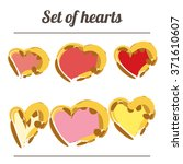 set hearts. a heart. the 14th... | Shutterstock .eps vector #371610607