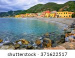 colorful fisherman's houses on... | Shutterstock . vector #371622517