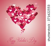 hearts for valentines day... | Shutterstock .eps vector #371622553