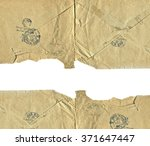 the texture of the old envelopes | Shutterstock . vector #371647447