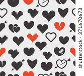 different abstract hearts... | Shutterstock .eps vector #371670673
