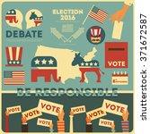 presidential election voting...   Shutterstock .eps vector #371672587