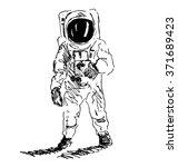 hand sketch spaceman | Shutterstock .eps vector #371689423