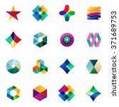 big set of modern icon design... | Shutterstock .eps vector #371689753
